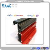 Perfil de aluminio de aleación de aluminio para los faldones de grano de madera y el perfil Perfil de aluminio para muro cortina y el sistema de puerta y ventana