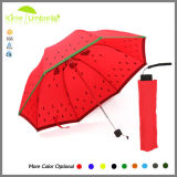 Вручную откройте дерево сложить зонтик с красным цветом дизайна