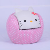 Hello Kitty Cat Baby Furniture/Children Leather Othoman Sofa/Kids Products (SXBB-24)