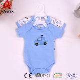 100%년 면 아기는 신생 뜨개질을 한 아기 Bodysuits를 입는다