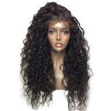 Фронта шнурка 2017 способов парик волос черного курчавого синтетический