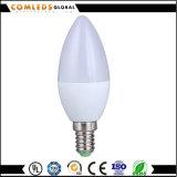 luz do diodo emissor de luz da lâmpada E27 E14 da vela de 7W 220V C37