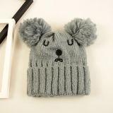 Kundenspezifischer Großhandelswinter warme Beanie-Hut-Winter-Schutzkappe strickend
