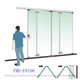 Garnitures va-et-vient en verre commerciales Foshan (F8100) de porte de pliage d'acier inoxydable de Frameless