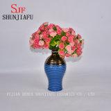 ハイエンド様式のホーム装飾のための小さい陶磁器の花つぼ(青い)