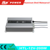 12V 16A 200W Waterproof a fonte de alimentação IP65 do diodo emissor de luz do interruptor IP67