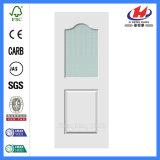 Дверь популярного более белого качания праймера белая стеклянная (JHK-G09)