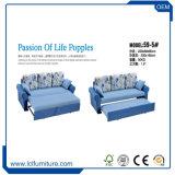 Base de dobramento do sofá de Seater da cor azul Home 3 da tela da antiguidade da mobília