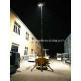 鉱山の構築の学校の道等の使用のエクスポートのための油圧移動式照明タワー
