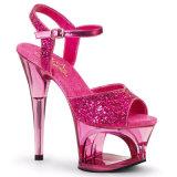 Sandali a cristallo dell'alto tallone dello stiletto delle donne di estate trasparente dei pistoni