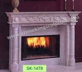 手の切り分けることの自然な大理石の暖炉のふた(SK-2587)