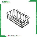 Quatro cestas de suspensão revestidas MERGULHO resistentes do armazenamento do engranzamento de fio para Pegboard/Gridwall/Slatwall
