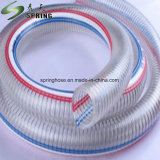 PVCプラスチック明確な鋼線補強された水産業排出管のホース