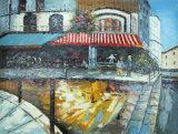 União Café & Restaurante cenas de rua pintura a óleo sobre tela