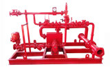 Lutte contre les incendies de la station de gaz fermés de l'eau Système de tir de pulvérisation de mousse