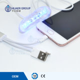 Dientes de USB/Android/iPhone que blanquean la luz con 16 mini luces del LED
