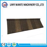 Colorida de piedra de resistencia al calor de metal revestido de azulejos de techo de madera