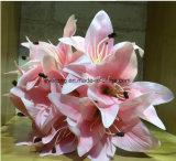 Fiore artificiale della tigre della decorazione della casa di cerimonia nuziale del fiore di seta del giglio del profumo del giglio di simulazione