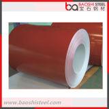 La qualité a enduit la bobine d'une première couche de peinture en acier galvanisée de couleur