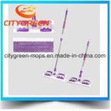 Microfiber очищая плоский Mop с Поляк