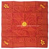 中国の工場OEMの農産物はロゴのFulloverによって印刷された赤い綿のバンダナのスカーフをカスタマイズした