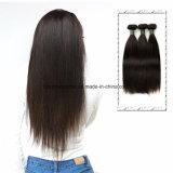 100% 10A 사람의 모발을 똑바로 길쌈하는 브라질 Virgin 머리