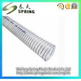 Manguito industrial del agua de la irrigación del espiral del tubo del alambre de acero del PVC