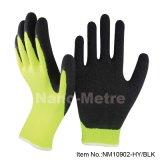 Jauge de Latex Knited Nmsafety 10 coton recouvert de gants de sécurité au travail