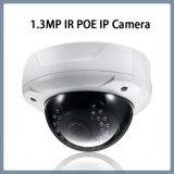 1.3MP câmera Vandalproof da abóbada do IP da rede da segurança do CCTV do ponto de entrada IR
