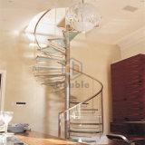 Escada circular escada em espiral escada de vidro moderna