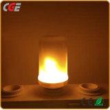 E27/E26/B22 12W LED efeito chama fogo lâmpadas LED lâmpadas LED