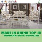 豪華な薄い色のホーム家具の新古典主義の革ソファー