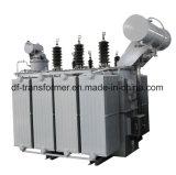 Transport de l'énergie 35~110kv à haute tension/transformateur d'alimentation immergé dans l'huile de réglementation de pouvoir de tension transformateur/110kv dévoltrice de four transformateur de distribution