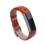 De bruine Geschiktheid van de Manchet van de Vervanging van de Riem van het Horloge van de Band van het Leer voor Fitbit Alta