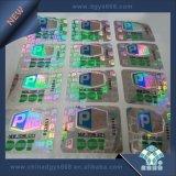 Holograma Láser en Color Plata pegatina con la impresión de números