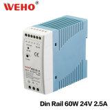 Transformateur à sortie unique de C.C DEL à C.A. du bloc d'alimentation 60W 24V de commutateur de Weho