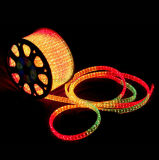 Светодиодный индикатор Neon String 220V 50м рулон на открытом воздухе с плоским 5 провода под руководством веревки лампа