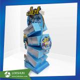 Soporte de visualización de la cartulina, estante de visualización de papel de suelo