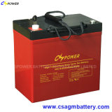 De diepe Batterij van het Gel van de Cyclus 12V 55ah voor het ZonneControlemechanisme van de Lader