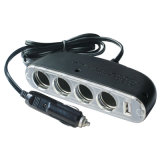 4 contacts femelle 12V allume-cigare avec port USB