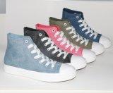 Красотка Средний-Отрезала тапки ботинок холстины вулканизированные для женщин
