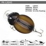 Attrait en plastique de flottement de pêche de vairon dur personnalisé par Pr-Ls045