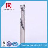 Резец торцевой фрезы карбида степени 4mm угла винтовой линии 35 каннелюр CNC HRC45 2 деревянный филируя
