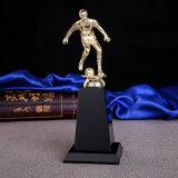 Трофей катания на лыжах пожалования хода пожалования трофея спорта людей металла Jingyage кристаллический