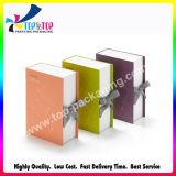 La impresión personalizada de forma de libro de caja de regalo con cinta de opciones