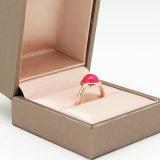 여자를 위한 색깔 구슬을%s 가진 금에 의하여 로즈 도금되는 반지