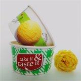 6oz熱い販売の習慣によって印刷される使い捨て可能なペーパーアイスクリームのコップ