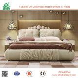 새로운 고대 직물 침대 단단한 나무 프레임 침대, 나무로 되는 가구 침대