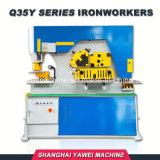Q35y-50 multifunctionele Hydraulische Ijzerbewerker voor het Buigen van het Knipsel van het Ponsen van het Metaal