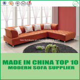 Mobilia moderna L stabilita sofà dell'angolo del cuoio di figura